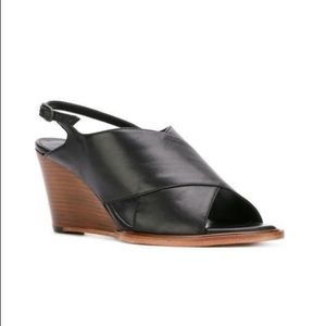 Robert Clergerie Calf Leather Wedge Sandal